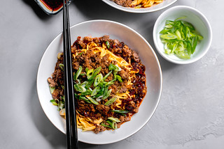 Dan Dan Noodles with Chili Oil and Szechuan Peppercorns