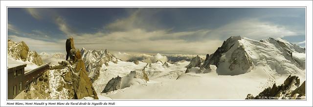 Mont Blanc desde la Aiguille du Midi. Chamonix. Francia  // Mont Blanc from the Aiguille du Midi. Chamonix. France