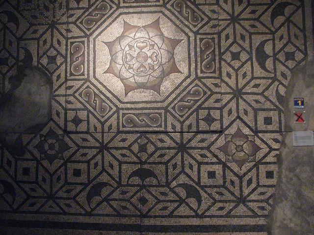 Roman mosaics at Colchester Castle