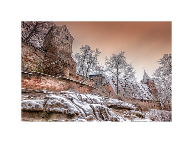 Kaiserburg Nürnberg im Winter