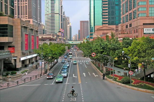 L'avenue Huaihai, ancienne avenue Joffre (Shanghai, Chine)