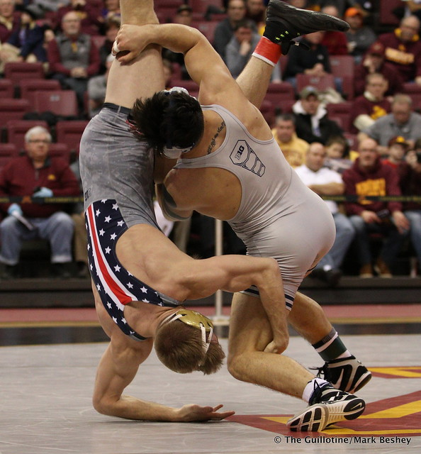 165 No. 2 Isaiah Martinez (5-0) (Illinois) dec. No. 9 Nick Wanzek (17-2) (Minnesota) 8-4. 180114AMK0186