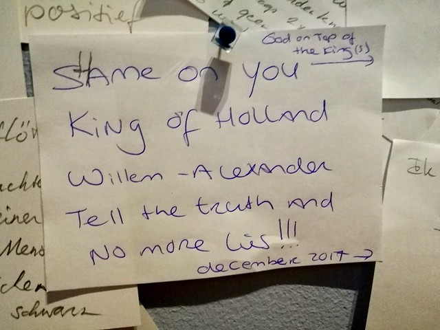Haags Historisch Museum 2017 – Shame on you King of Holland