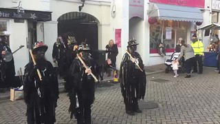33 - Hunters Moon dancing their ninth dance outside the Star Inn at the Motcombe Christm