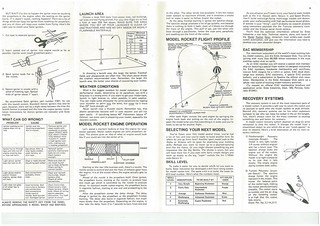 Estes Challenger-1 (1416) Starter Set Instructions (as printed) Pgs. 8 & 9 | by Model Rockets Rock!