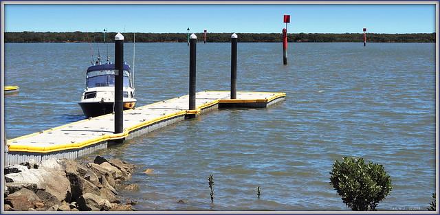 Tooradin Inlet floating pier.