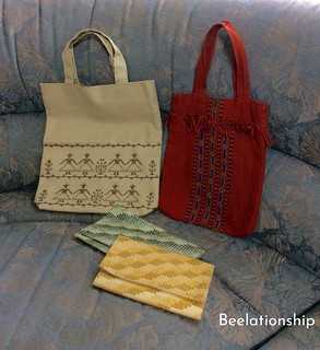40.Cross Stitched Bags | by Beelationship Embroidery Studio