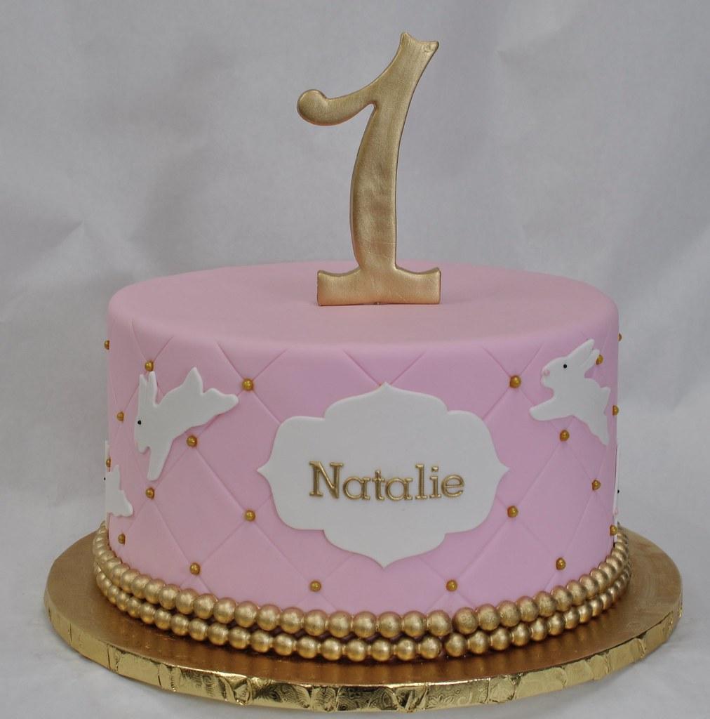 Stupendous Bunny Birthday Cake Jenny Wenny Flickr Birthday Cards Printable Riciscafe Filternl
