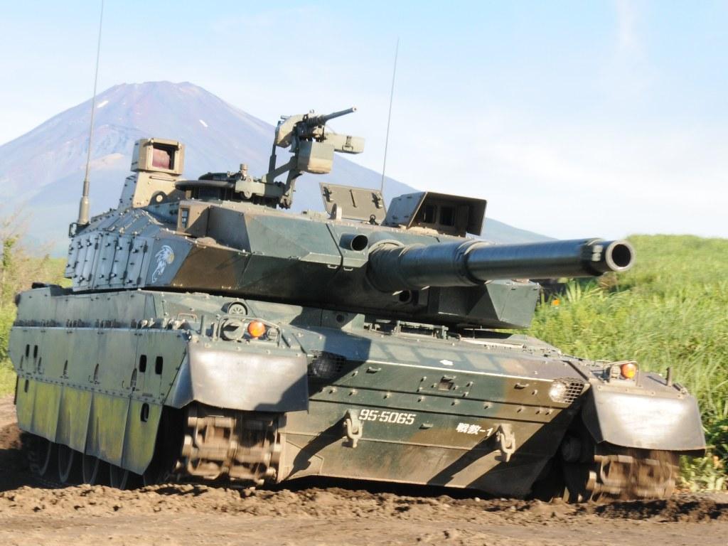 10式戦車 | [乗員]3人 [全備重量]約44t [全長]約9.4m [全幅]約3.2m ...