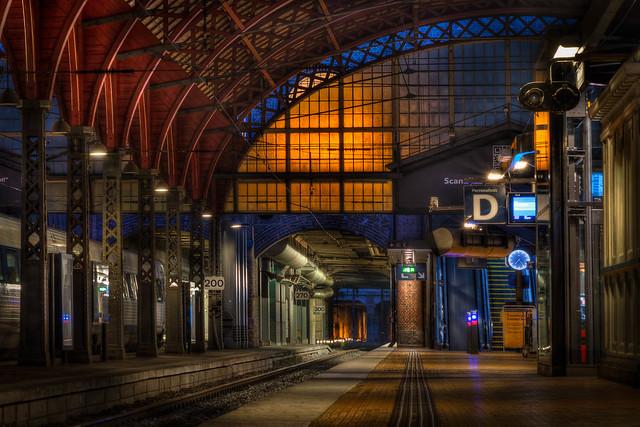 The Empty Central Station in Copenhagen