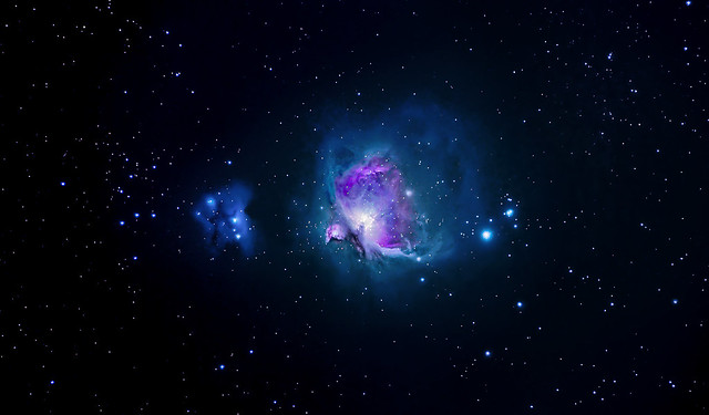 M42 (Orion) and Running man nebula from Paris