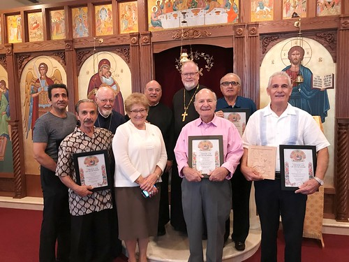 Father Stephen, Father Dean, Father Frank and Maria  SD Mitri, Jerry Fahel and Volunteers 2 | by Holy Spirit Orthodox Church