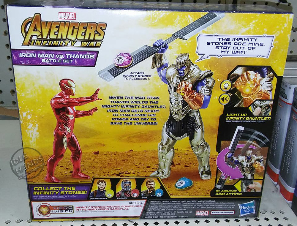 Marvel Avengers Infinity War Iron Man Vs Thanos battle playset