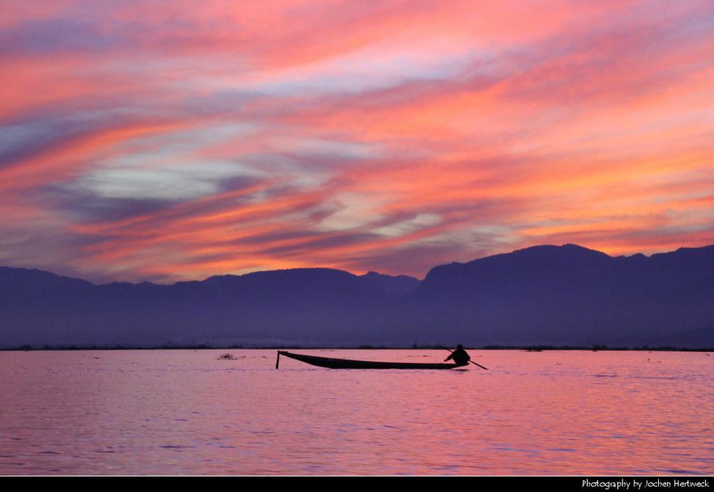 Sunset at Inle Lake, Myanmar
