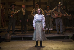 Tue, 2017-03-14 16:29 - Rose Anna and the McCoys perform a ballad for the annual hoedown competition, hoping to beat out the Hatfields with lyrics by The Bard himself.  Haley Bolithon as Rose Anna McCoy (front), L to R: Royen Kent, Collin Quinn Rice, Kyle Ryan, Khloe Janel, Tommy Malouf