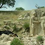 Arsameia am Nymphaios (3. Jhdt.v.Chr.), König Mithridates oder Antiochos beim Handschlag mit Herakles