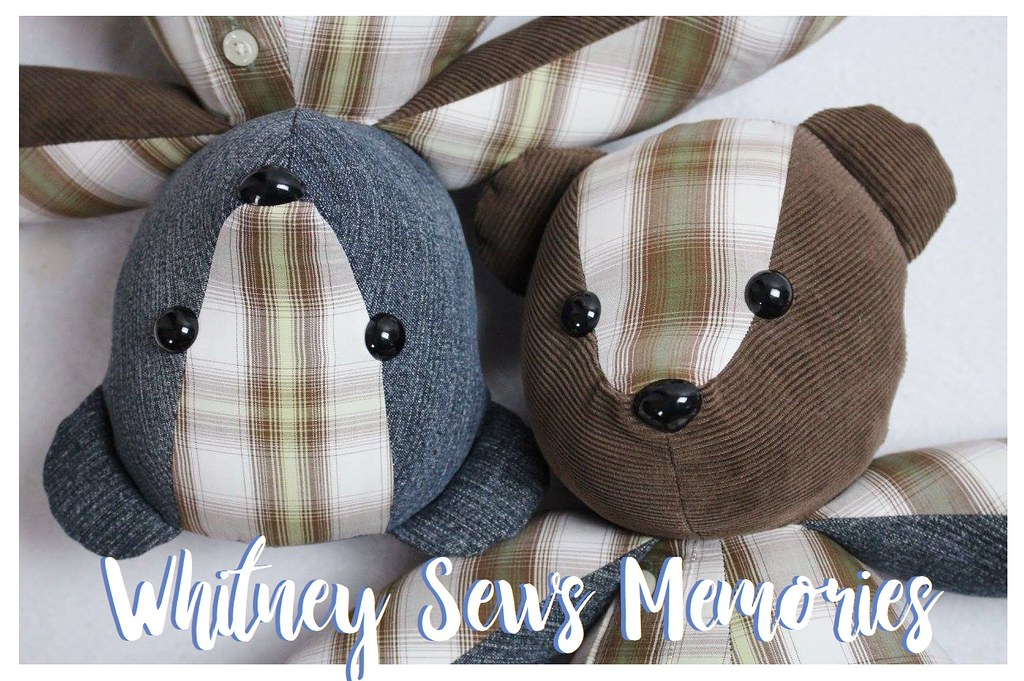 Memory Bears from Clothing by Whitney Sews Memories | Flickr
