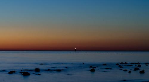 sunset evening viken sweden öresund