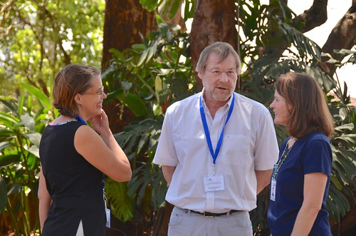 Feb/2018 - Officials from the German Federal Research Institute for Animal Health, the Federal Institute for Risk Assessment (BfR), and the Institute of Parasitology and Tropical Veterinary Medicine of the Free University of Berlin, visited ILRI 27 February- 1 March 2018 (photo credit: ILRI/Paul Karaimu).