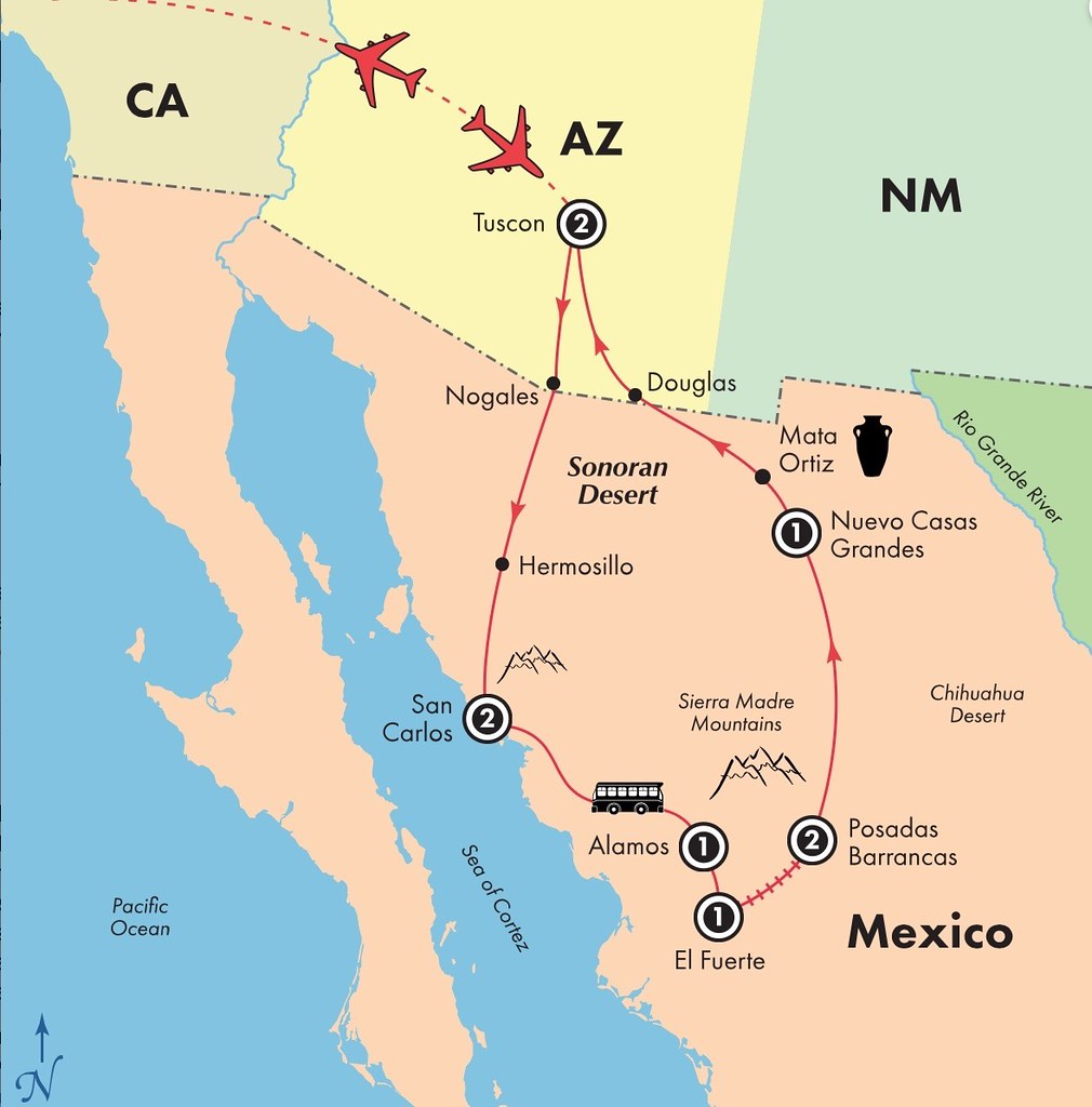Copper Canyon Mexico Map 10 Day Copper Canyon: Escorted Mexico Tour map | Enriched na… | Flickr