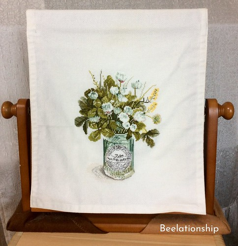 28. Wild Blueberry Mirror Cover | by Beelationship Embroidery Studio