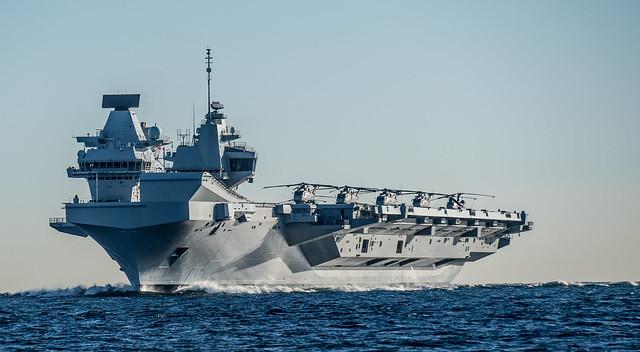 HMS Queen Elizabeth on her maiden call to Gibraltar Feb 2018