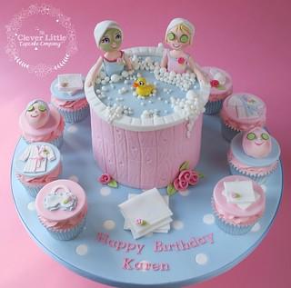 Miraculous Spa Themed Cake Amanda Mumbray Flickr Personalised Birthday Cards Xaembasilily Jamesorg