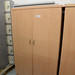 Tall beech 2door storage unit with shelvesE150