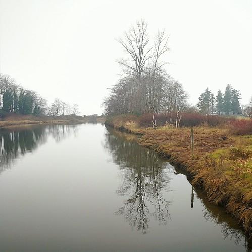 monochrome minimalist winter riverbank britishcolumbia bccanada reflectionssquareformat