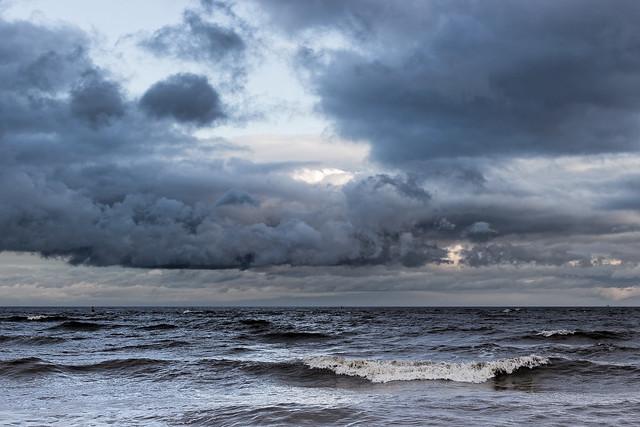 Felixstowe winter seascape
