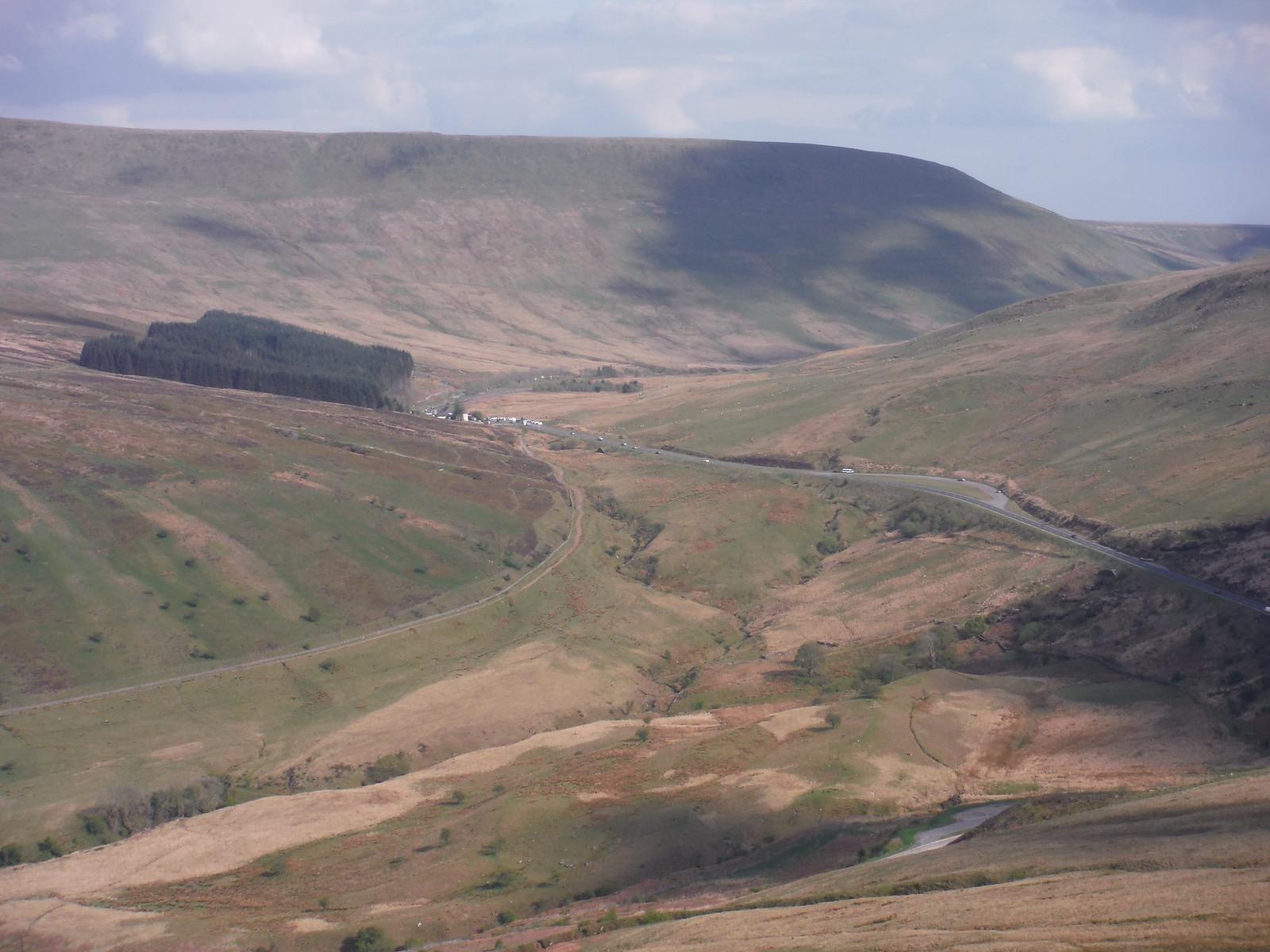 Storey Arms Centre from Craig y Fro SWC Walk 307 - Fforest Fawr Traverse (Craig y Nos to Llwyn-y-celyn) [Storey Arms Ending]