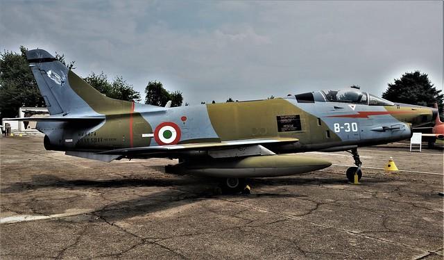 G-91Y MM6474/ 8-30 ex Italian Air Force/ Aeronautica Militare. Preserved, Cameri Air Base, Italy. 27 July 2016.