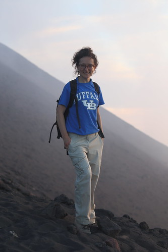 Teresa Ubide at Stromboli island.