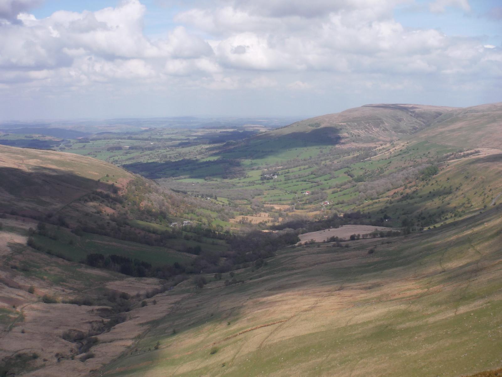 View from Fan Nedd Ascent SWC Walk 307 - Fforest Fawr Traverse (Craig y Nos to Llwyn-y-celyn)