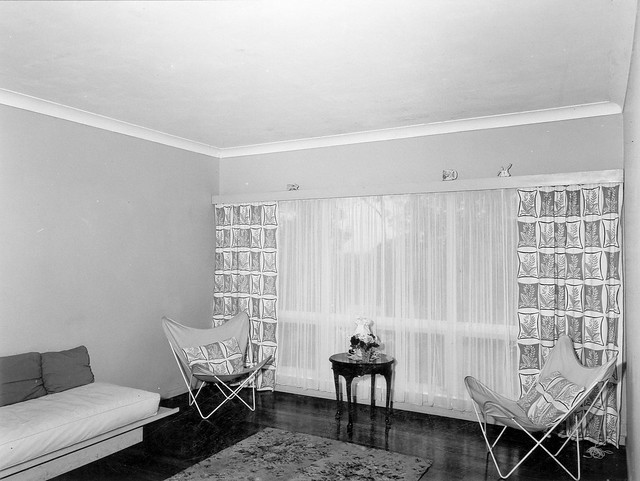 Living room decor, interior of Housing Commission dwelling, Fig Tree Pocket - Brisbane