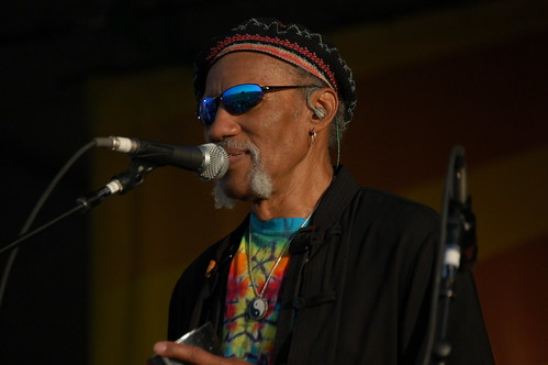 Charles Neville at Jazz Fest 2008. Photo by Black Mold.