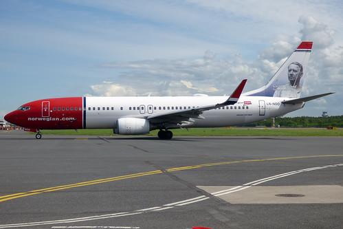 Norwegian (Gustav Vigeland livery), LN-NOO, Boeing 737-86Q | by Anna Zvereva