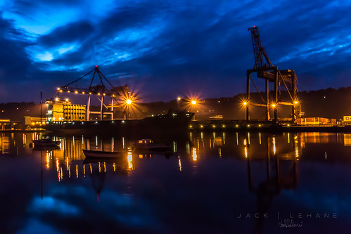ireland light clouds marina docks dock industrial harbour cork blackrock