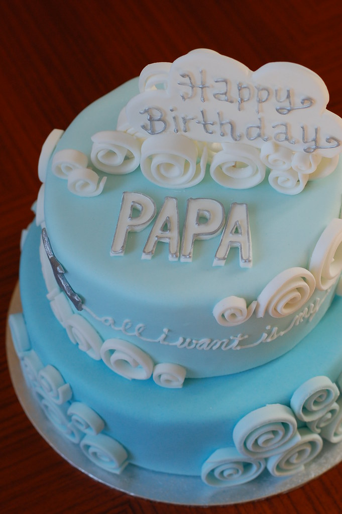 Blue Sky birthday cake | CharmChang | Flickr