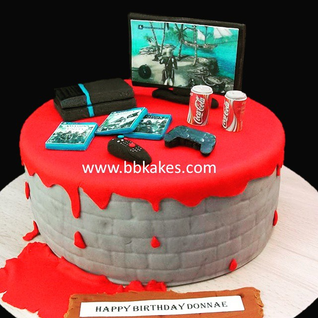 Amazing Creed Assassin Theme Gamer Cake By Bbkakes Cake Gamer G Flickr Funny Birthday Cards Online Alyptdamsfinfo