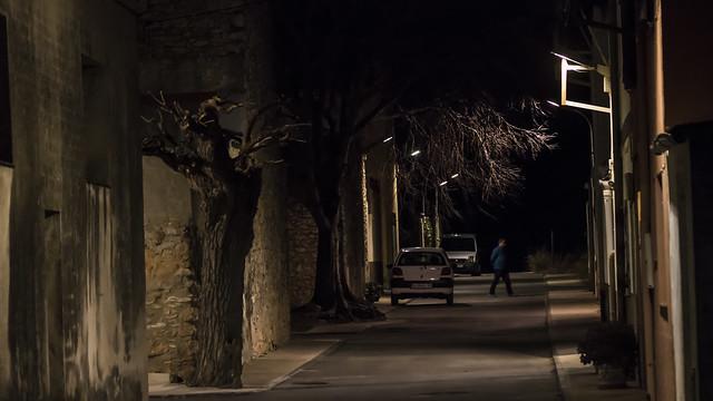 carrer fosc a Sant Joan del Pas