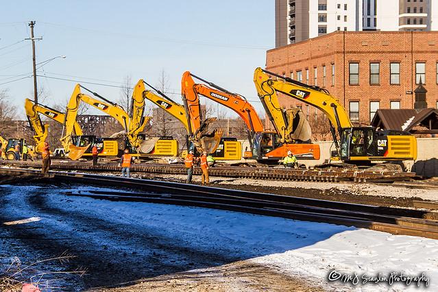 Track Repair   BNSF Thayer South Subdivision