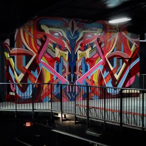Ramkat Music venue mural under poor lighting | by iamhieronymus@gmail.com