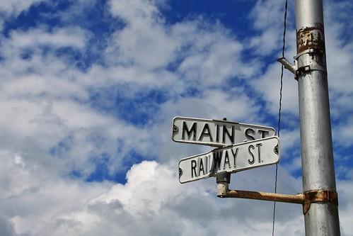 jamaica guthriecounty iowa railway main old vintage street signs