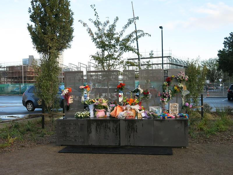 Tributes and memorials at the Former CTV site