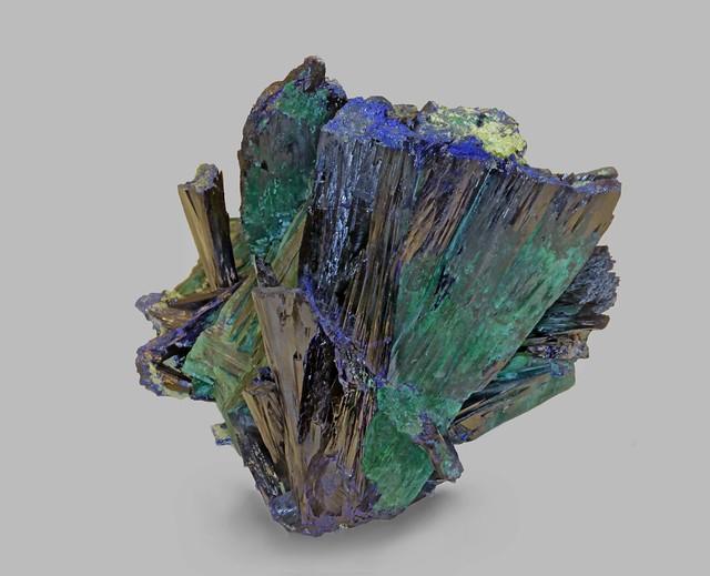 Azurite altering to Malachite
