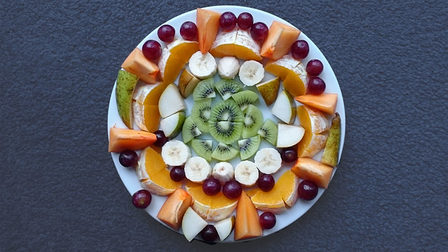 Bildschichten Fruechteteller 00d a circle of fruits