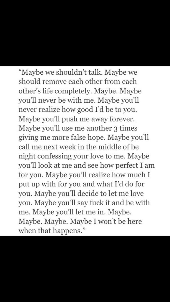Sad Love Quotes : You'll miss me - #Love | Sad Love Quot ...