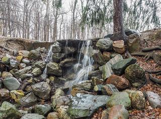 Holcomb Gardens waterfall