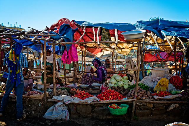 Vegetable and fruits market, Ethiopia